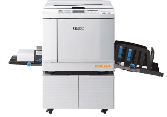 RISO SF5130 1, מדפסות לייזר צבע, מכשיר כריכה ספירלי, מדפסות לייזר צבעוניות, מדפסות לייזר למשרד