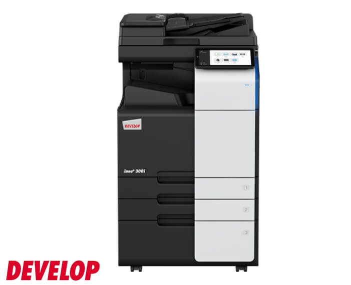 מכונת צילום והדפסה משולבת A3 צבע Develop Ineo+300i